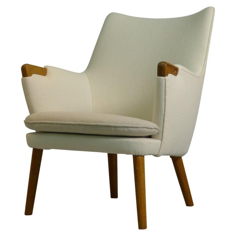 Hans Wegner Ap20 Mini Bear Lounge Chair By Ap Stolen Denmark 1950s