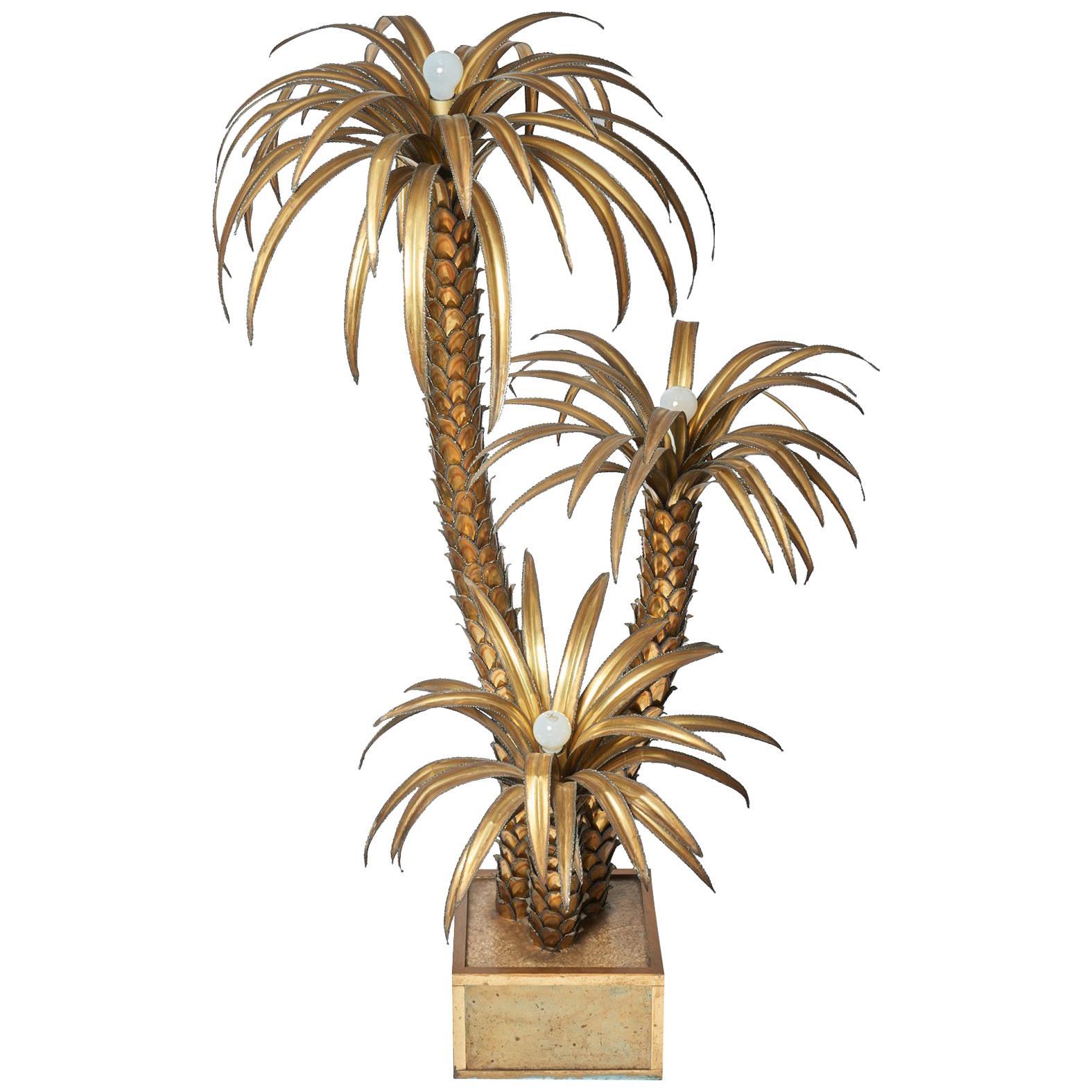 Maison Jansen Palm Tree Floor Lamp