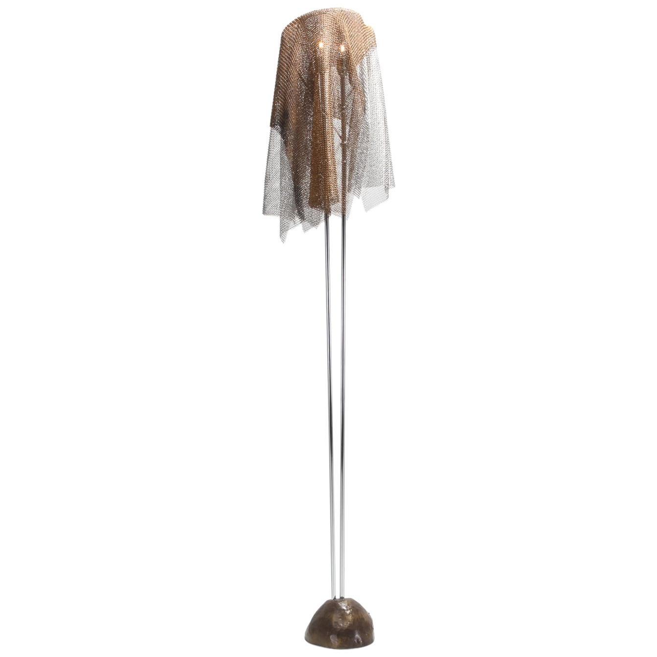 "Artemide Chain Mail Floor Lamp ""Anchise"" by Toni Cordero"