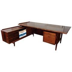 Danish Rio Palisander Desk of Arne Vodder for Sibast, 1965
