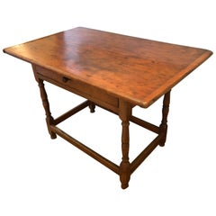 Antique Honey Pine Farm Side Table