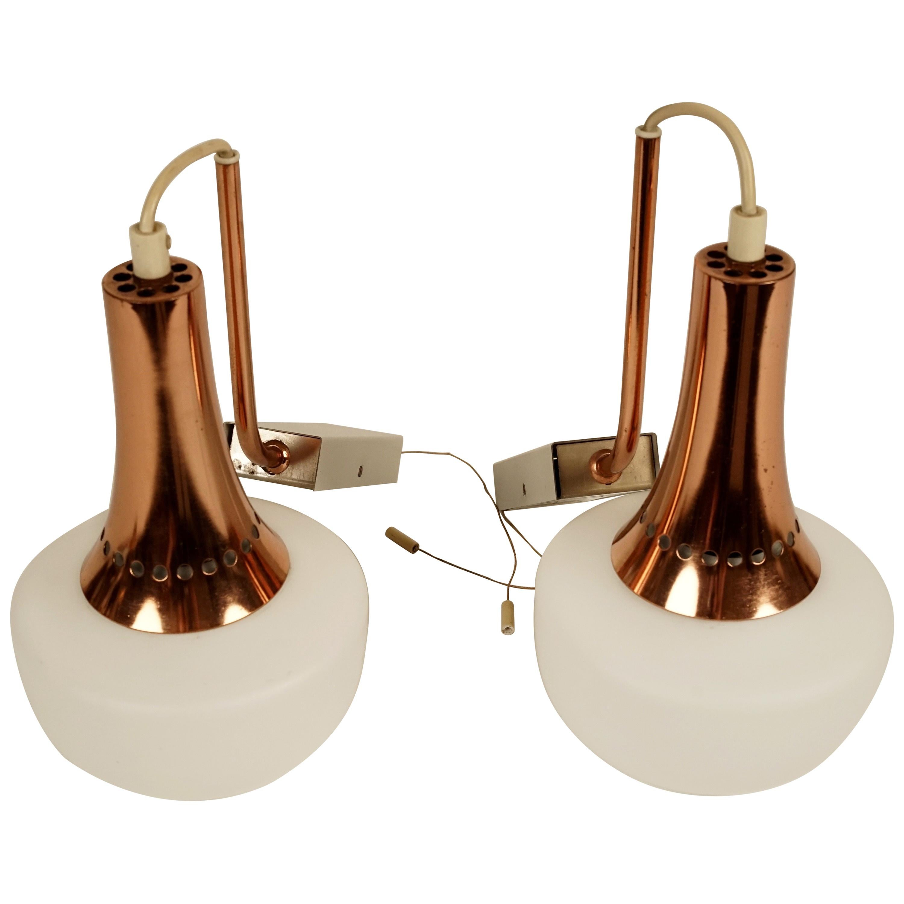 Pair of Hanging Wall Sconces from 1950s