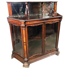 19th Century Victorian England Rosewood Cabinet, 1860s
