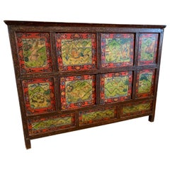 Antique Asian Handpainted Cabinet one of a kind