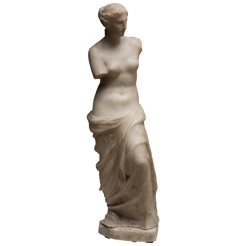 Carrara Marble Sculpture Copy of Venus de Milo by French Sculptor, circa 1820