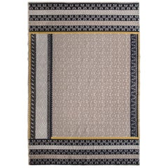 "Asymmetrical ""Patchwork"" Carpet in Hand-Tufted Sardinian Wool"