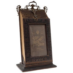 Ancient Bellows Photo Frame, German Manufacture, Mid-19th Century