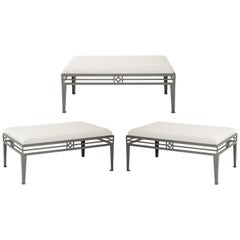 Set of Three Outdoor Benches