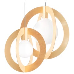 Diaradius, Contemporary Pendant Lamps, Brass
