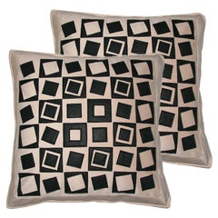 "One of a Kind Pair of Pillows, Throw Pillows, Philosophy Pillows ""Vasarely"""