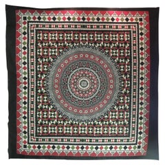 Large Indian Red and Black Hand-Blocked Printed on Cotton Cloth/Bed Cover