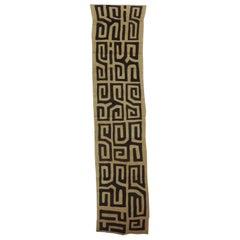Vintage Natural and Black African Applique Kuba Textile
