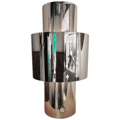 1970s Willy Rizzo Chrome Lamp