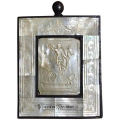 "Antique Mother of Pearl Icon ""Lasur Asione"""