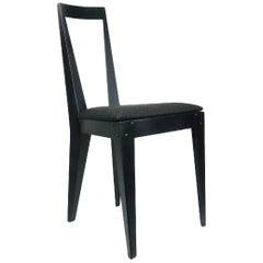 Pair of 1980s Post Modern Angular Metal Chairs
