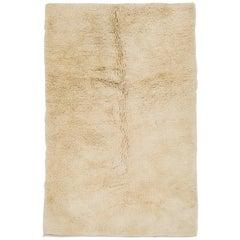Minimalist Ivory Tulu Rug made of Natural Undyed Wool