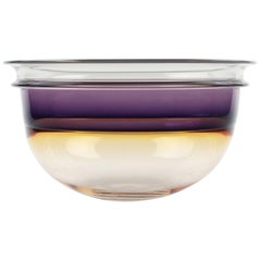 1980s Studio Art Glass Bowl by Art Reed