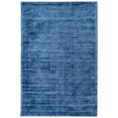 Silk Rug, Whisper Smooth Collection, Whisper Moon Light Blue