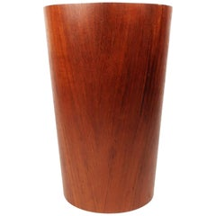 Scandinavian Modern Teak Wastebasket by Rainbow Wood Products
