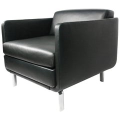 Black Leather Gaia Armchair by Arik Levy for Bernhardt Design