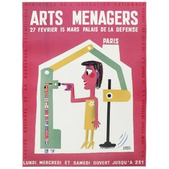 Vintage Red French Art Menagers Poster