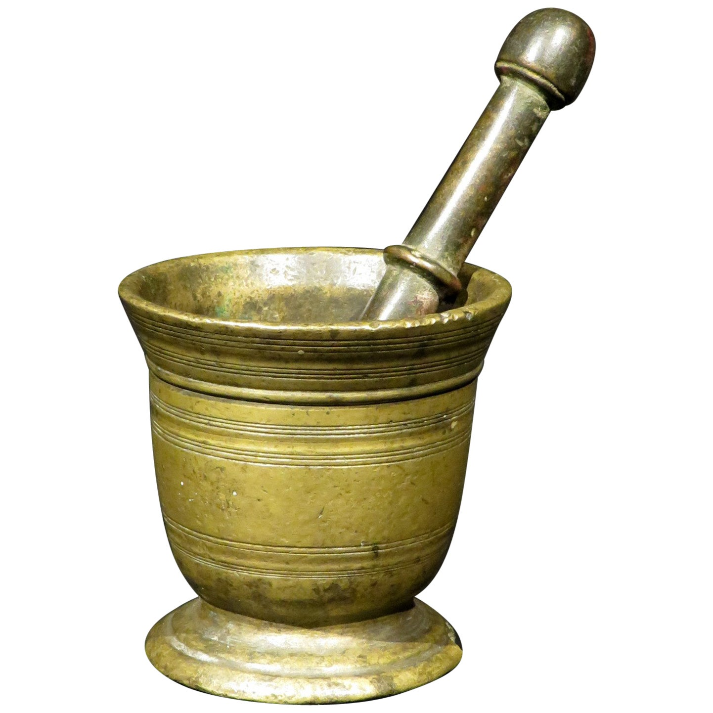 Small 19th Century Bronze Apothecary Mortar & Pestle, Continental Circa 1800