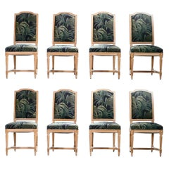 Set of 8 French Louis XV Style Chairs, 1950s