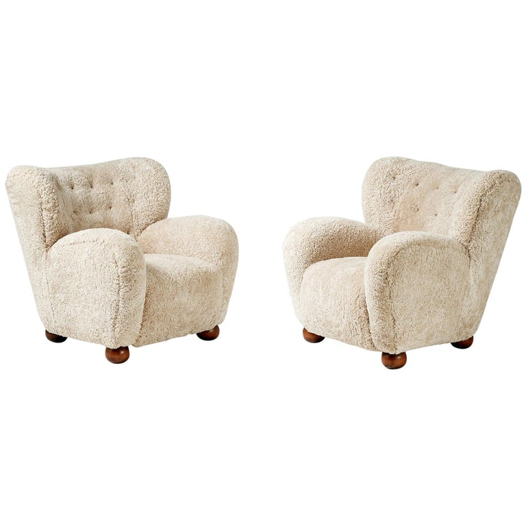 Marta Blomstedt 1930s Pair Of Wing Chairs For Hotel Aulanko For Sale