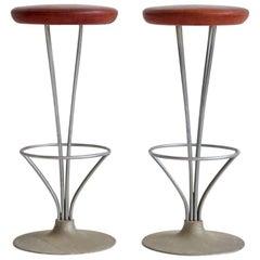 Pair of Piet Hein Bar Stools by Fritz Hansen