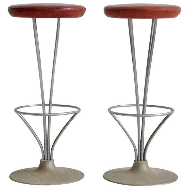 Pair of Piet Hein Bar Stools by Fritz Hansen For Sale