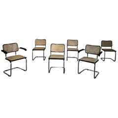 Marcel Breuer B32 Cesca Dining Room Chairs for Gavina Knoll, 1963, Set of 6