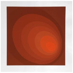 """Leonid """"Untitled (Red Ombre)"""" Serigraph"""