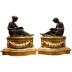 Pair of Louis XVI Gilt Bronze Table Decorations