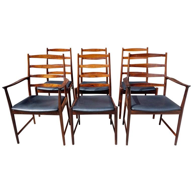 Midcentury Rosewood Dining Chairs Torbjørn Afdal for Vamo