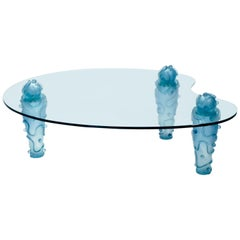 Large Signed Glass Coffee Table by Garouste & Bonetti, 1990s