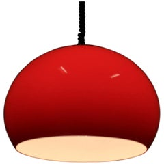 Midcentury Red Pendant Meblo by Harvey Guzzini, 1970s