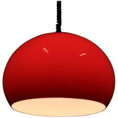 Midcentury Red Pendant Meblo by Harvey Guzzini, 1970s