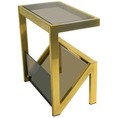 Brass Magazine Rack by Belgochrom, 1970s