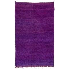 Purple Moroccan Carpet, Solid Field