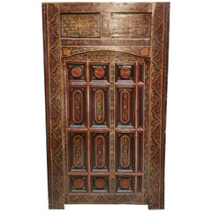 Old Multi-Color Moroccan Wooden Door, 23MD42