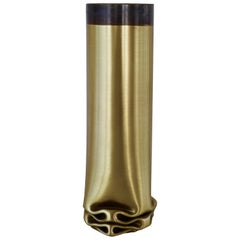 "Dal Furlo ""Hot Brass"" Medium Cylindrical Modern Brass Vase"