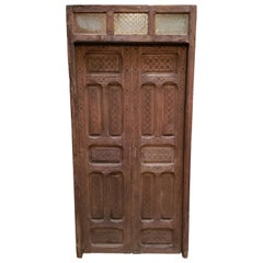 Dark Brown Moroccan Wooden Door, 23NO44
