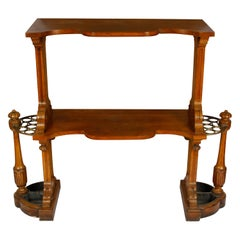 Antique English Two-Tier Etagere Hall Stand