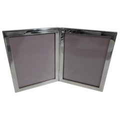 Tiffany Sterling Silver Double Picture Frame for a Special Twosome
