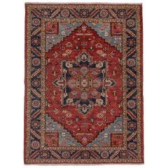 Traditional Persian Heriz Rug