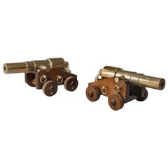 Pair of 4 Stage Bronze Signal Cannon