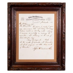 Colt Distributors Quill Letter to Governor Beginning of Civil War, 1861