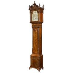 A Mahogany Long Case 'tide' Clock England, c. 1900