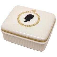 Royal Copenhagen Silhouette Covered Ceramic Box