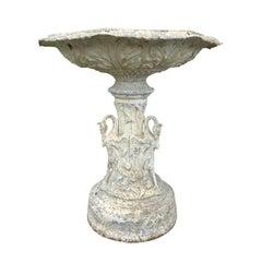 Aluminum Garden Fountain by FISK, circa 1920s